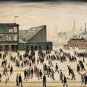 LS Lowry's 125th birthday … a 1953 painting entitled Going to the Match