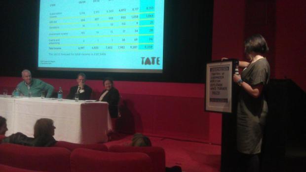 Tate Member presents 'The Oil Ship' to Jon Snow