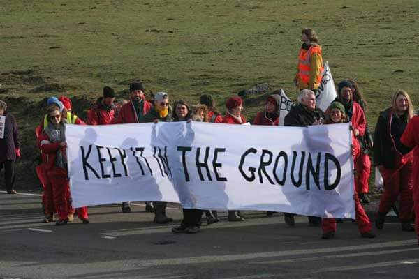 Reclaim the Power action at the Ffos-y-Fran opencast mine