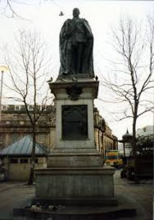 Statue of Edward VII, King of the United Kingdom and the British Dominions and Emperor of India in Fitzallen Square, Sheffield