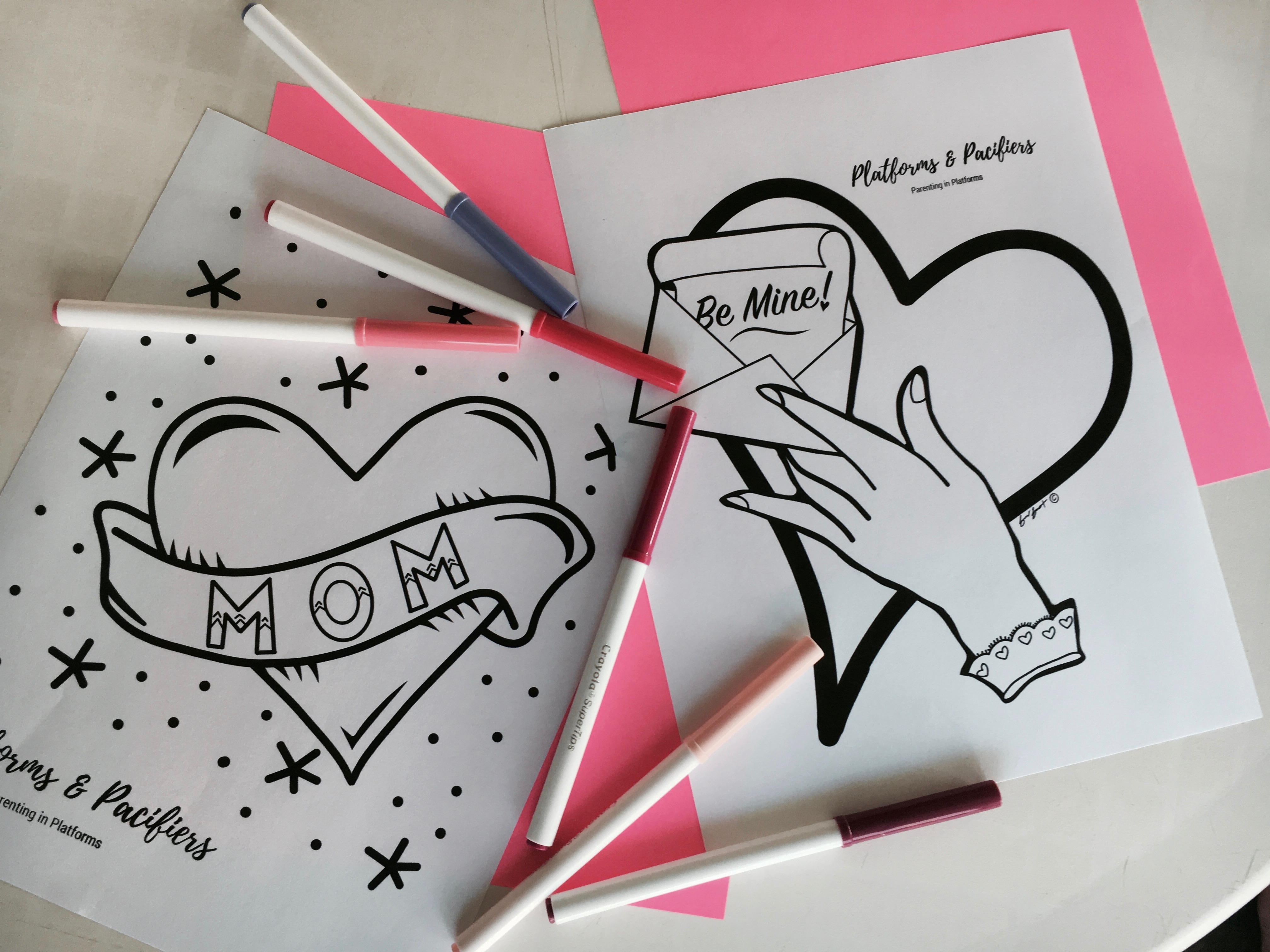 Free Valentine's Coloring Pages!