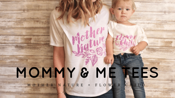 Mother Nature and Her Flower Child – A Graphic Tee Shirt Collection