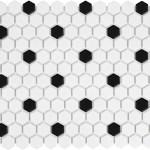 "White & Black Matte Hexagon 1"""