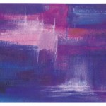 "VEVI02 11.6"" x 23.4"" Purple Glass Decor"