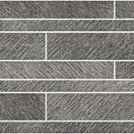 Incisa Black Brick Wall Mosaic