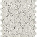 Bloom White Print Esagono Mosaico
