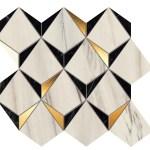 Marvel Bianco-Black Mosaico Diamonds WALL