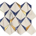 Marvel Bianco-Ultramarine Mosaico Diamonds WALL