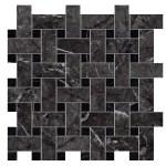 Marvel Grigio Intenso Mosaico Basket Weave Matt