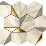 Marvel Gold Hex Gris-Calacatta WALL