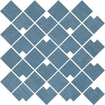 Raw Blue Mosaico Block WALL