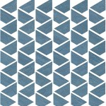Raw Blue Mosaico Flag WALL