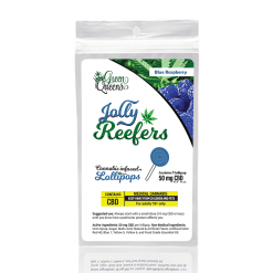 Jolly Reefers Blue Raspberry Lollipops CBD (50mg) Buy Online Canada