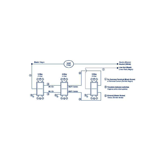 Wiring Diagram For 277v Lighting Leviton Decora 15 Amp 4 Way Intermediate Rocker Switch