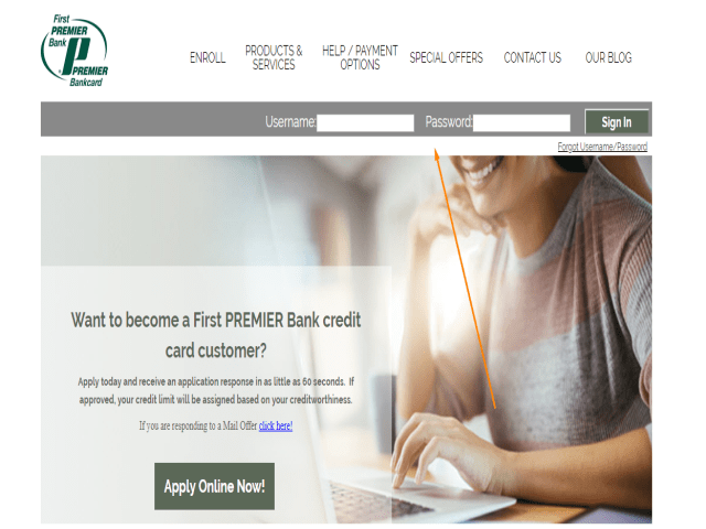 First Premier Credit Card Application Status username