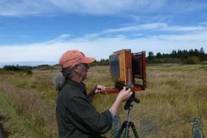 Ken Osthimer taking a landscape photo