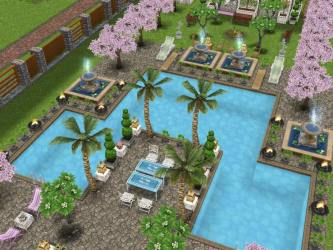 freeplay sims pool garden backyard houses dream contest voting backyards fountains play gardening i1 8am gmt ends remember october simmers