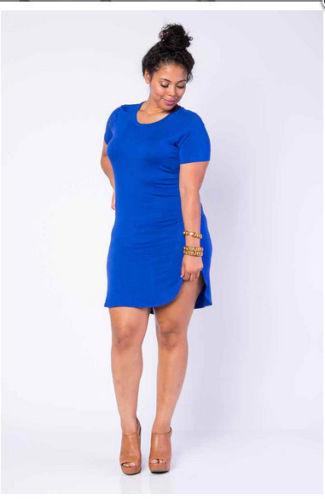 Plus Size T Shirt dress - Platinum South Boutique