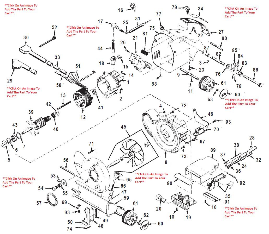 Motor Parts: Vacuum Cleaner Motor Parts