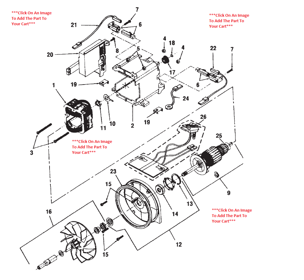 Motor Parts: Vacuum Cleaner Motor Parts
