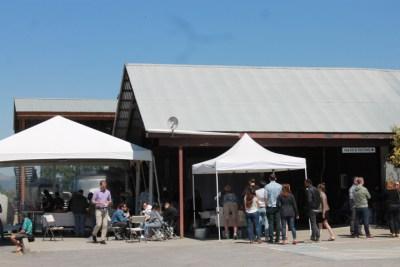 Wine release event at Unti Vineyards, Healdsburg CA