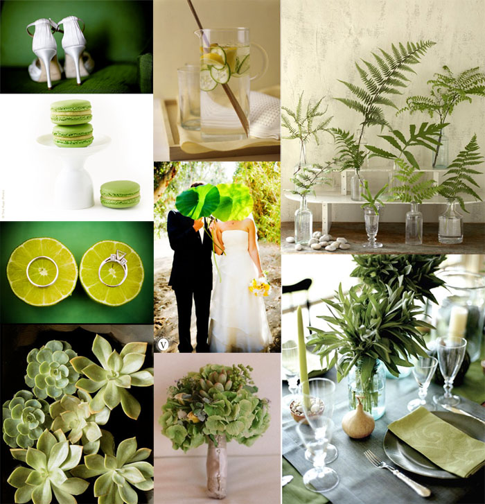 Its Theme Time Again  Colors  Green Wedding