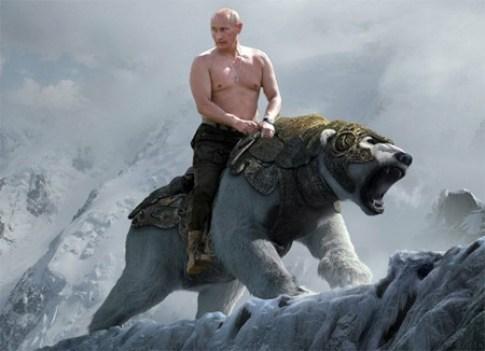 putin rides a bear 1382111169854819500