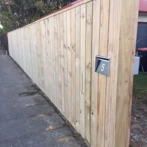 3) New fence and letterbox installation