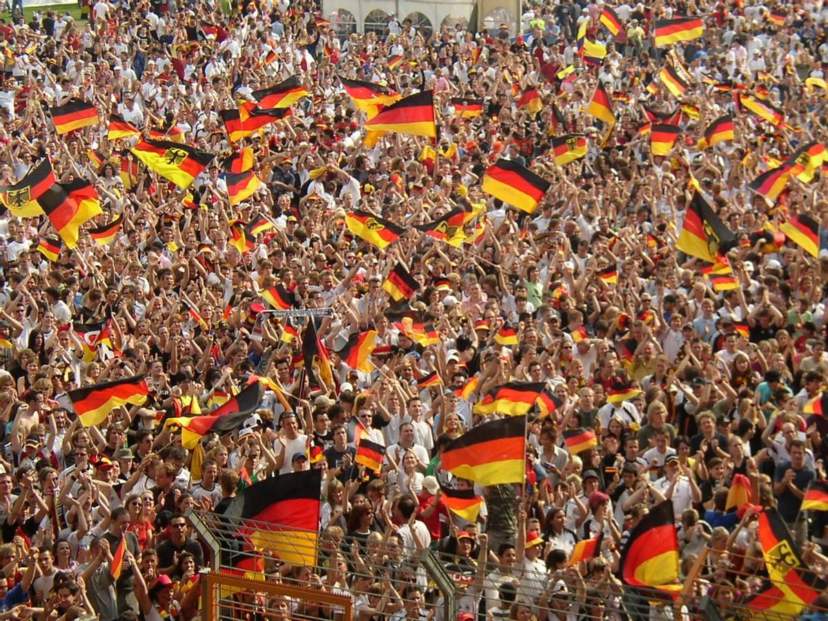 World cup german fans wm 2014