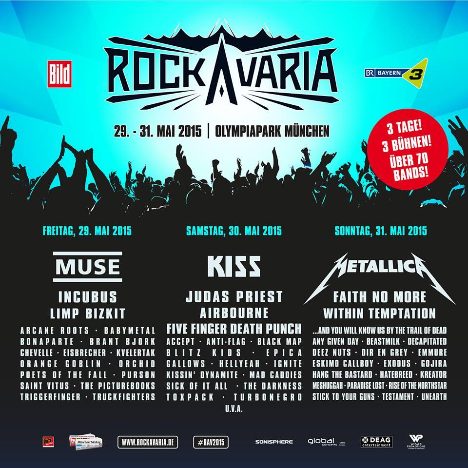 Rockavaria 2015: Line-Up füllt sich