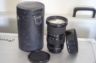 CANON FDn 35-105mm F:3.5 + LENS HOOD CANON BW 72B + CASE