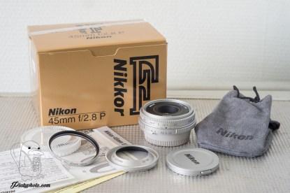 NIKON NIKKOR 45mm F:2.8 NEAR MINT IN BOX / EXTRAS