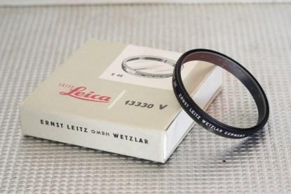 Lot 3 filtres Leitz 49mm POOKZ, POOBV, 13330 V.