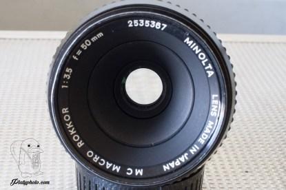 Minolta Macro Rokkor 50mm F:3.5 + bague allonge 1:1