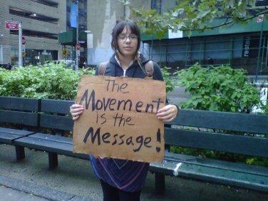 Folk singer Tea Leigh at the #Occupy site