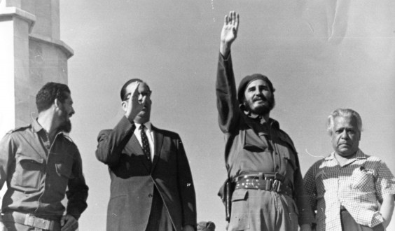 Fidel Castro assumes power after ousting the Batista Government in 1959.