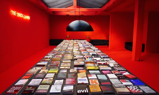 The Marx Lounge, 2011 installation by Alfredo Jaar.