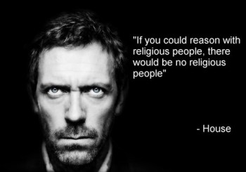 A perfect example of how atheists view religious people.