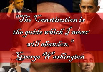 """""""The Constitution is the guide which I never will abandon."""" - George Washington"""