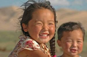 Little girl from Mongolia