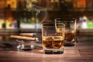 Two brandy and two cigars
