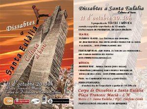 DISSABTES A SANTA EULÀLIA. Cultura al barri 11 Octubre 2014