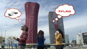 A frame of the video that Plàudite Teatre has created for InnJoo Spain for the #MWC15