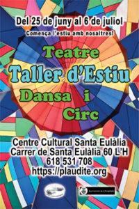 Taller d'estiu de teatre, dansa i circ 2018