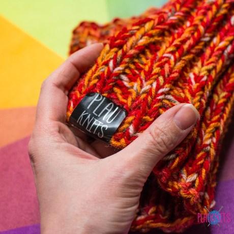 Дредошапка 22 см / Оранжевая вязаная шапка / повязка для дред