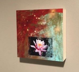 Lotus Painting on Wall