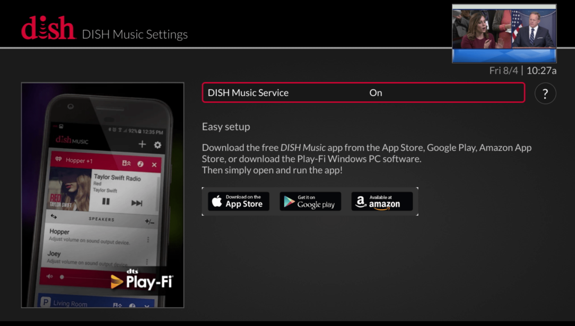 hight resolution of just use your remote to go to the menu select settings and then dish music you ll see the screen below