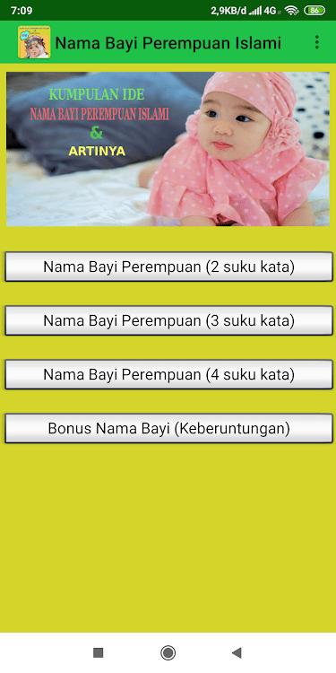 Nama Bayi Islam 3 Suku Kata : islam, Kumpulan, Perempuan, Islami, Artinya, (Android, Aplikacje), AppAgg