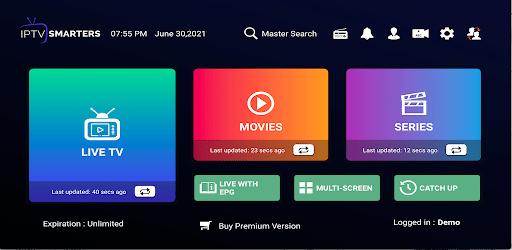 IPTV Smarters Pro captures d'écran