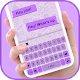 Simple Purple SMS Keyboard Background for PC